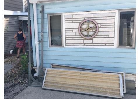 Good condition 6x6 overhead shed door