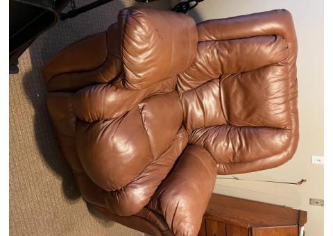 Preowned Leather Recliner